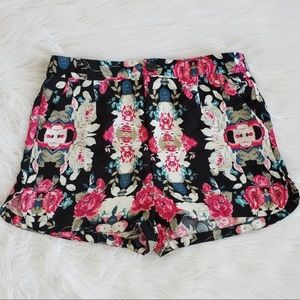 Forever 21 Exclusive Floral High Rise Shorts Small